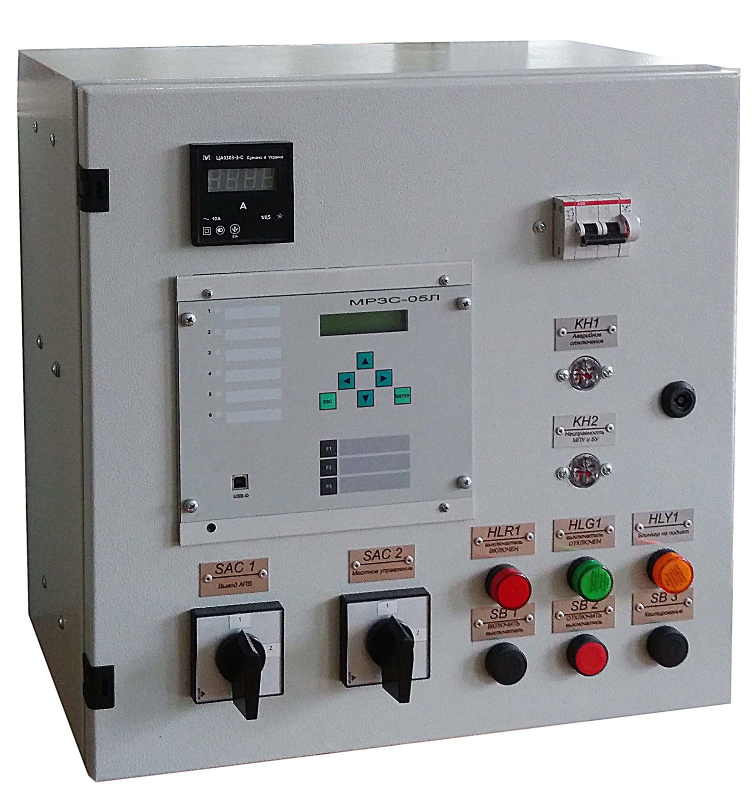 Cabinets of relay protection and automation of series SHUAZ-10