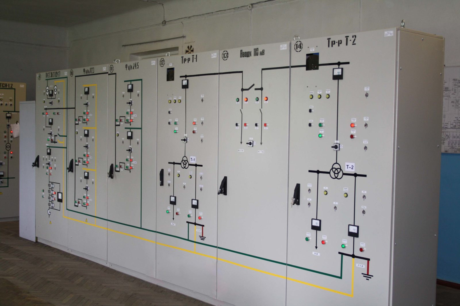 Series of cabinets for relay protection and automation SHUAZ-110